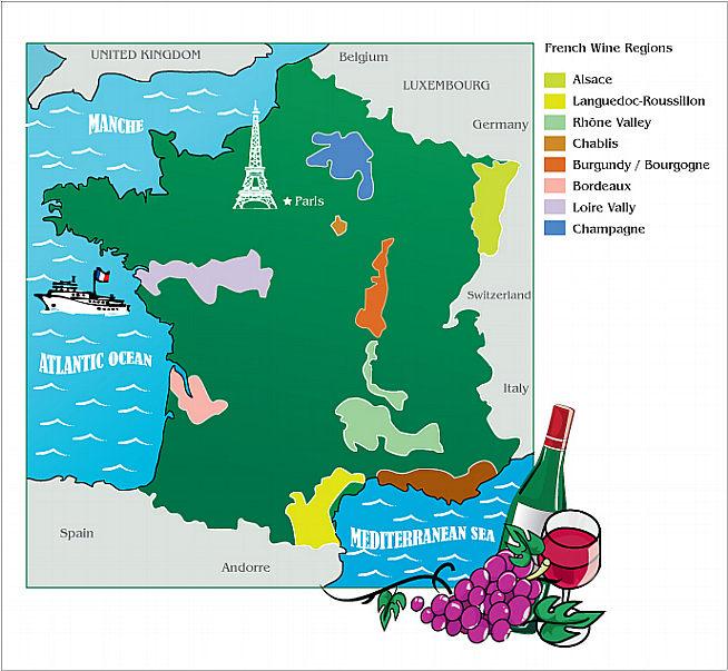 Wine Region Map Of France.Wine In France