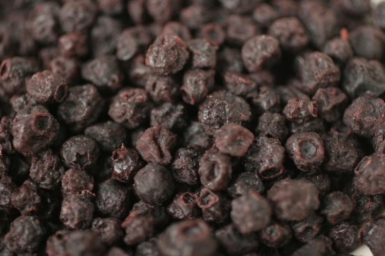 Dried blueberries.