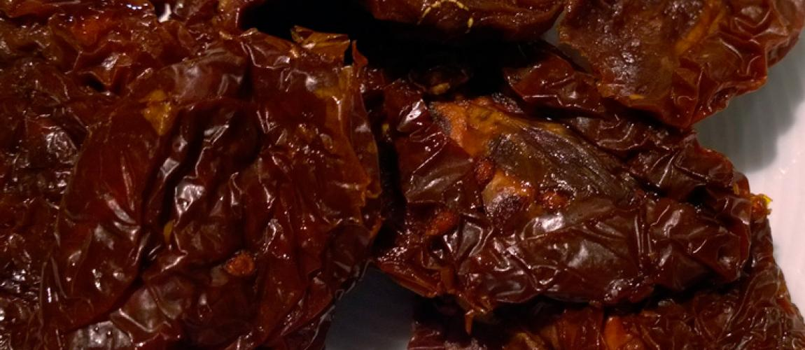 Close up of sundried tomatoes.