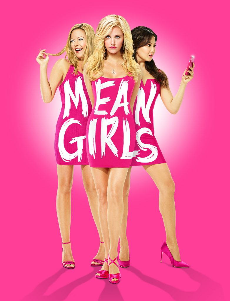 Kate Rockwell (playing Karen Smith), Taylor Louderman (playing Regina George), Ashley Park (playing Gretchen Wieners)